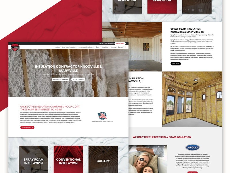 Accu-Coat / Knoxville, TN - Website Design by Slamdot website design webdesigner web design wordpress webdesign slamdot knoxville tn graphicdesign