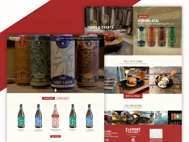 Elkmont Exchange / Knoxville, TN - Website Design by Slamdot