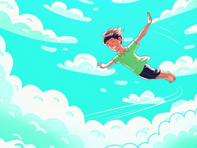Fly above Sky illustration digital painting cgart photoshop illustrator