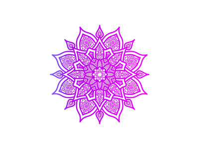 Beautiful Mandala Design With Gradient Color zentangle beauty logo decor decorative decoration flower vector illustration asian beauty gradient color sign art abstract henna floral beautiful pattern art pattern mandala