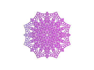 Beautiful Mandala Art Design With Gradient Color flower floral creative gradient color decorating decoration henna decor vector zentangle mandala design decorative beauty asian pattern illustration beautiful art abstract
