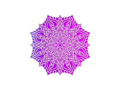 Beautiful Mandala Art Design With Gradient Color meditation artrage vector gradient color flower floral zentangle mandala henna decoration decor creative design decorative beauty pattern illustration beautiful art abstract