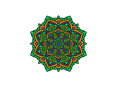Beautiful Colorful Mandala color round zentangle meditation colorful culture flower floral decoration asian vector creative pattern beauty design decorative illustration art beautiful abstract