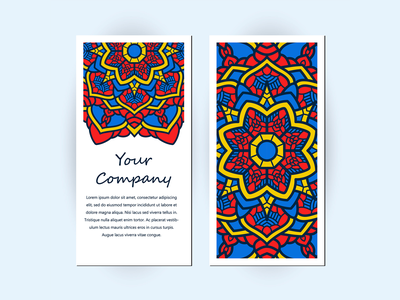 Business Card With Floral Ornament Decoration decorative decor flower abstract beauty template card illustration beautiful decoration ornament floral paper company business card template business card mockup business business card