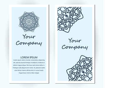 Business Card With Floral Ornament Decoration latter decorative design creative pattern business card design business card template business card mockup paper business card card business abstract company decorations rounded flower decoration mandala floral
