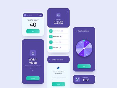 Watch & Earn App - Android App Source Code app design app android app development android app design mobile app interface ui design android app