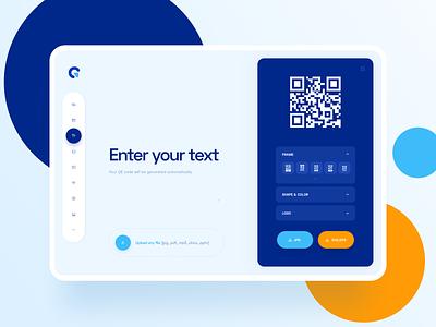 QR Code Generator qrcode app design webapp design webapp design web interface ui app