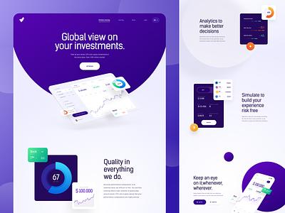 SWA - Landing Page finance webdesign clean homepage interface uidesign ux website web design ui landing page
