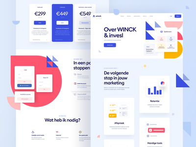 Winck Subpages pricing page webdesign homepage landing page interface uidesign website web design ui
