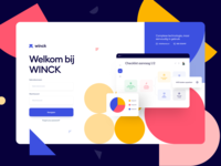 Login & Contact page - Winck interface form field forms contact us sign up signup login landing page uidesign website web design ui