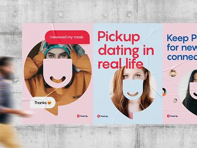 PeekUp - Posters dating design brand branding poster visual print branding design