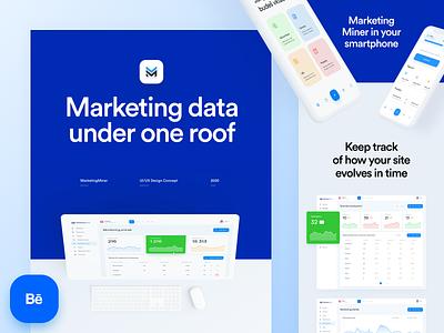 Marketing Miner - Behance Case Study app web interface ui design marketing chart statistics dashboard seo