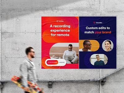 ClearMix - Branding Assets brand poster print brandguide logo brand assets branding