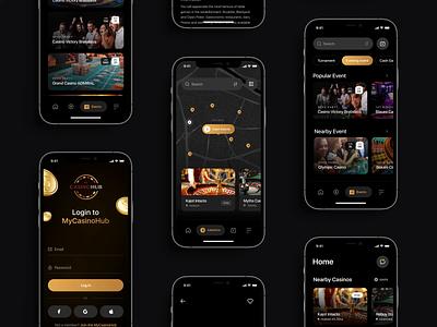 MyCasinoHub - Mobile App interface ux uidesign design motion graphics mobileapp app motion ui