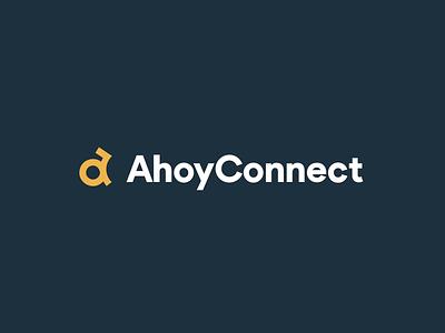 AhoyConnect - Logo motion graphics branding mark a mark symbol logotype logo animation logo motion brand logo