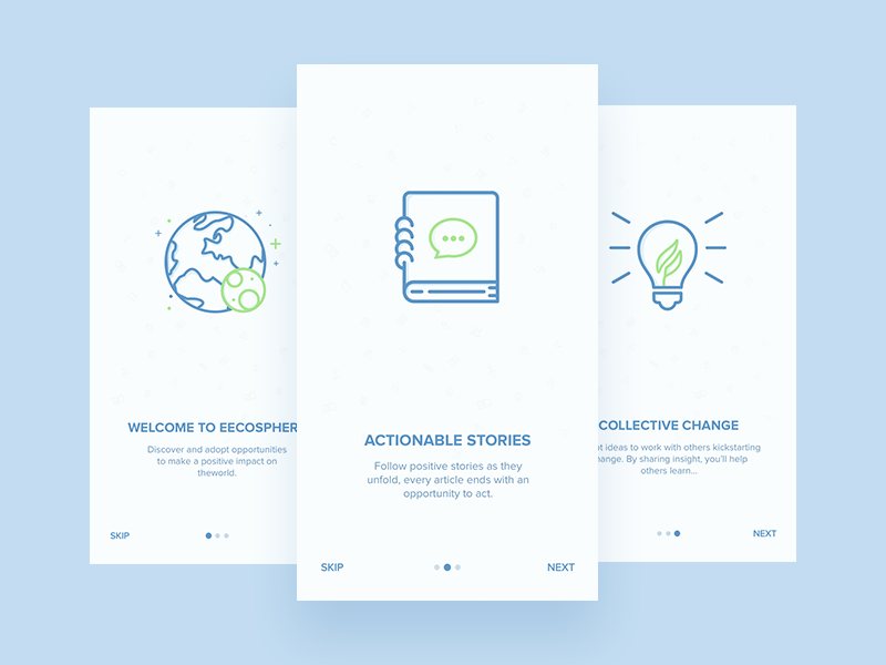 Onboarding Screens icons mobile screen intro app ios ui