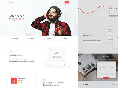 Sendemo - Labels Page web ui page minimal landing design clean