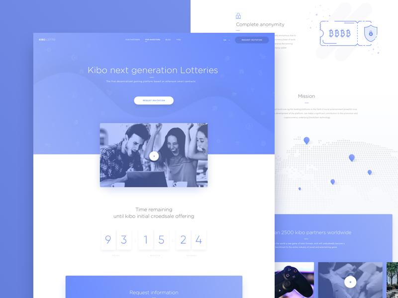 Landing Page   Kibo Lotto ux ui icon minima website webdesign landing design