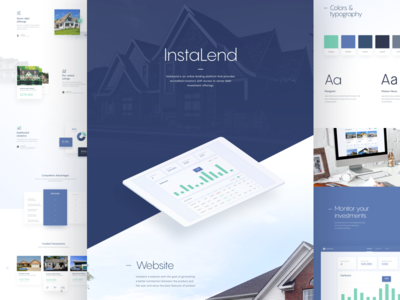 Instalend - Behance Case Study behance case study design experience interface page ui web website real estate