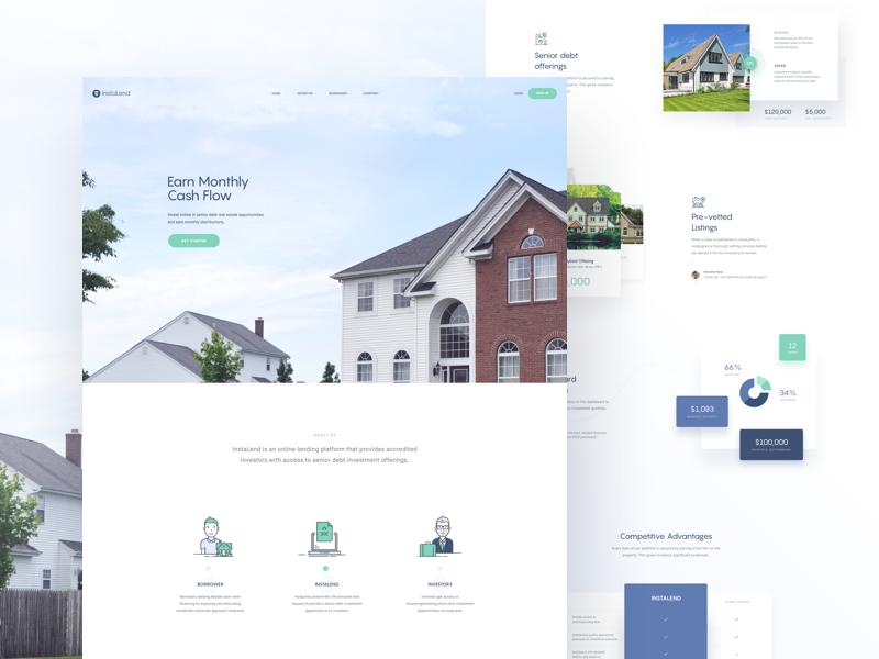 Instalend homepage