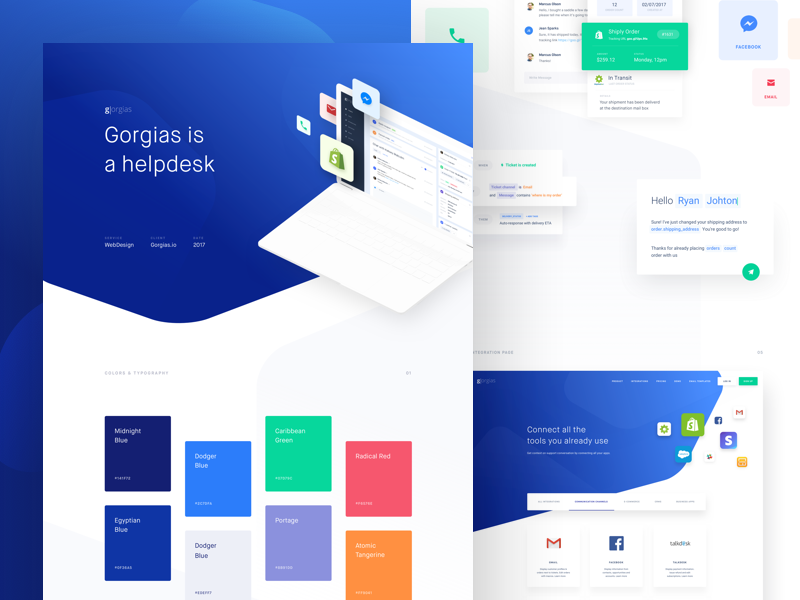 Gorgias - Behance Case Study