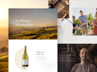 Winery - Landing Page martin strba winery wine simple webdesign user interface ux uidesgin ui website web landing page