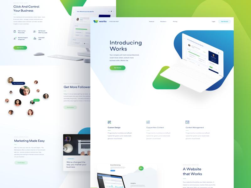 Landing Page - Works balkan brothers martin strba design landing page ui uidesign user interface web webdesign website crm