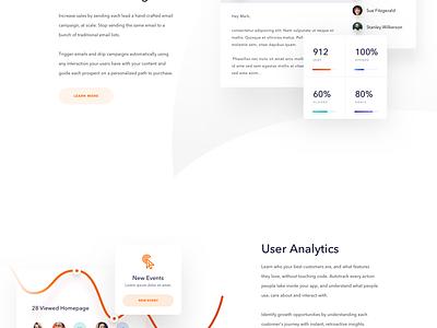 ConvertFox - Homepage website web design ux user experience ui landing page gradient clean chat