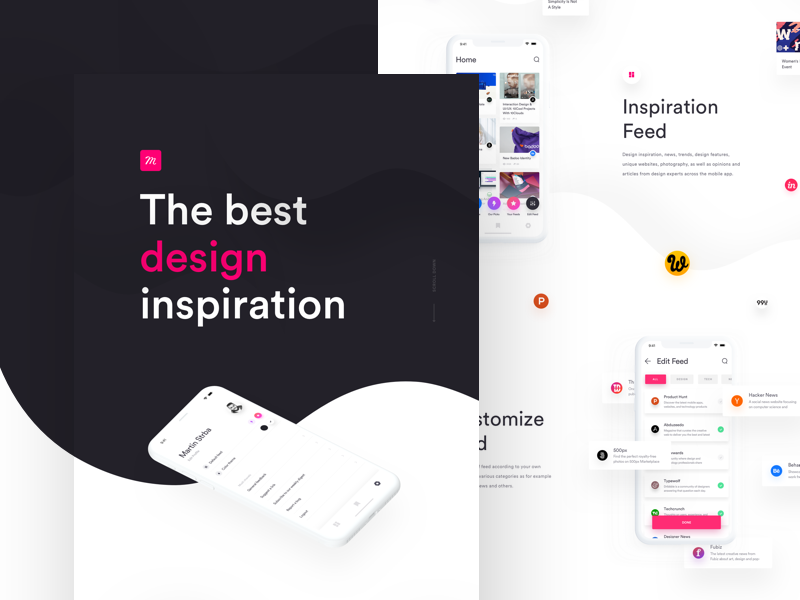 Muzli mobile app   behance case study
