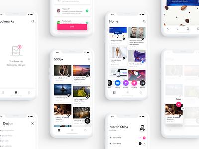 Muzli Mobile App Concept - Behance Case Study uxdesing ux user interface uidesing ui muzli mobile ios behance app design