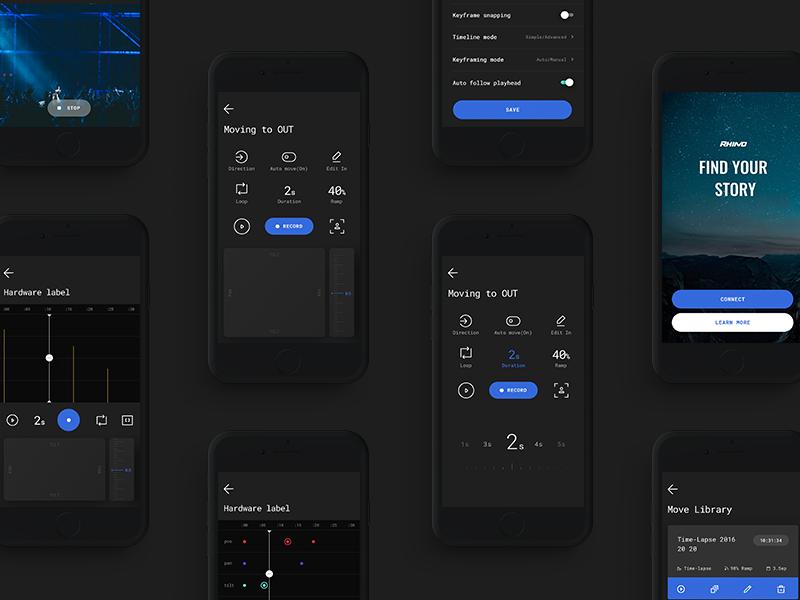 Rhino Gear Camera iOS App userinterface uidesign uxdesign ux mobile ui ios app camera