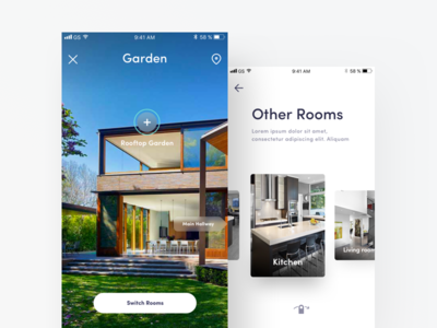 P - 360 Viewing Property App app ios ux mobile app ui real estate property experience design