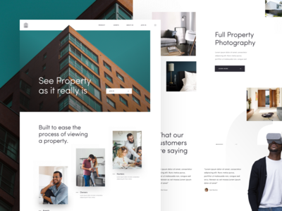 S - Landing Page website web ux landing page ui real estate property experience design