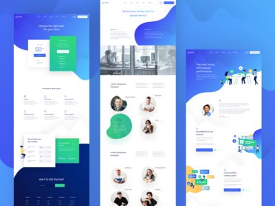 Zenbu - Subpages balkanbrothers illustration landing page marketing social media ui ux about us pricing page kpi web website