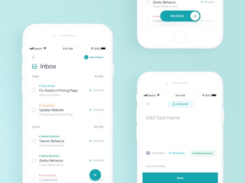 Mobile Task Tracker uidesign ui tracker task mobileapp ios interface app