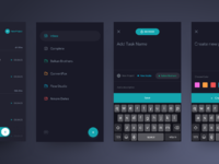 Mobile task tracker   dark theme copy