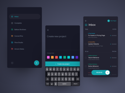 Mobile Task Tracker - Dark Theme