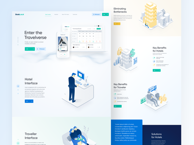 BookLocal is Live! web vector illustration homepage uidesign landing page clean ux website design
