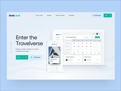 Landing page - BookLocal webdesign interface uidesign ux illustration homepage app landing page website web design