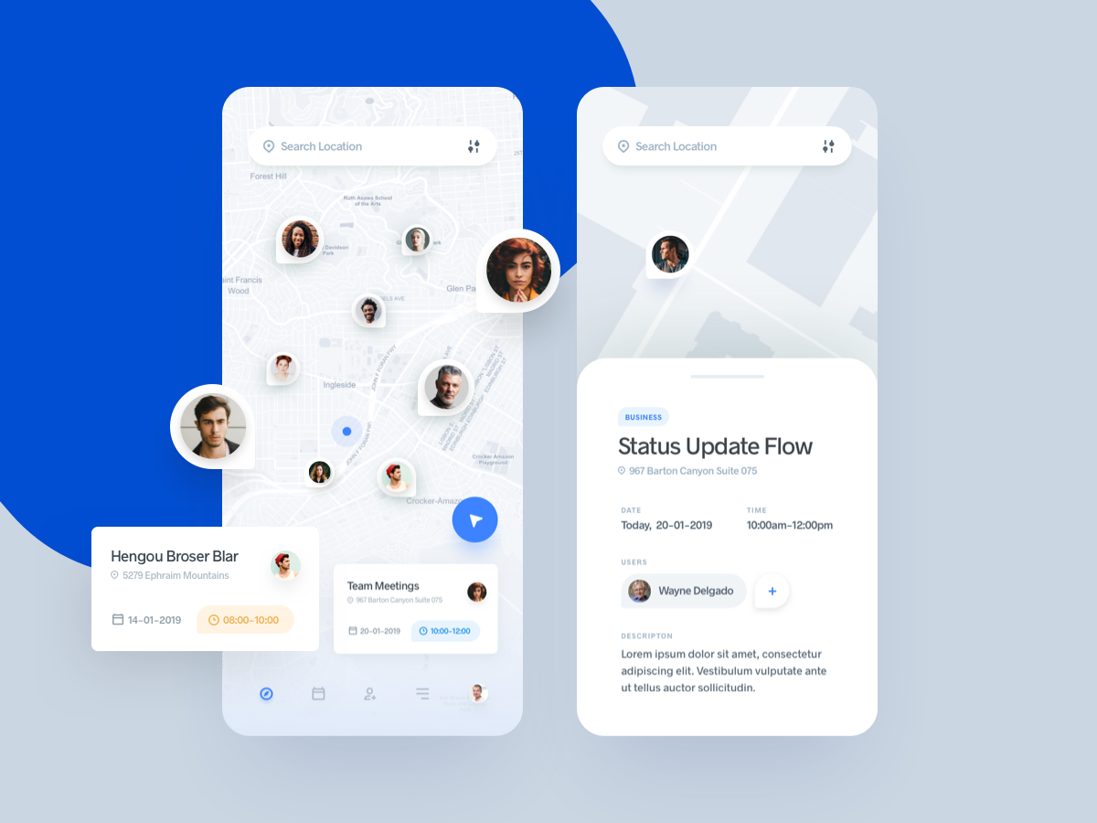 Meeting Point App mobile app ui design ux uidesign app ios interface mobile clean map schedule