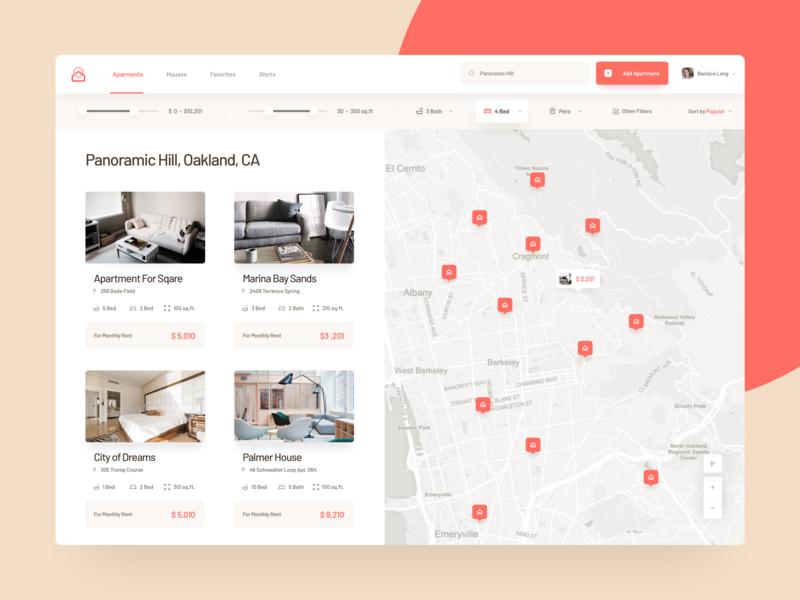 Real Estate Search Platform ui design web website ux uidesign interface real estate apartment app application
