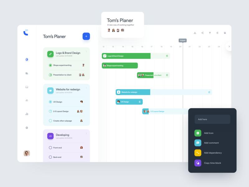 Tom's Planner - Roadmap icons chart statistics roadmap admin uidesign web ui design