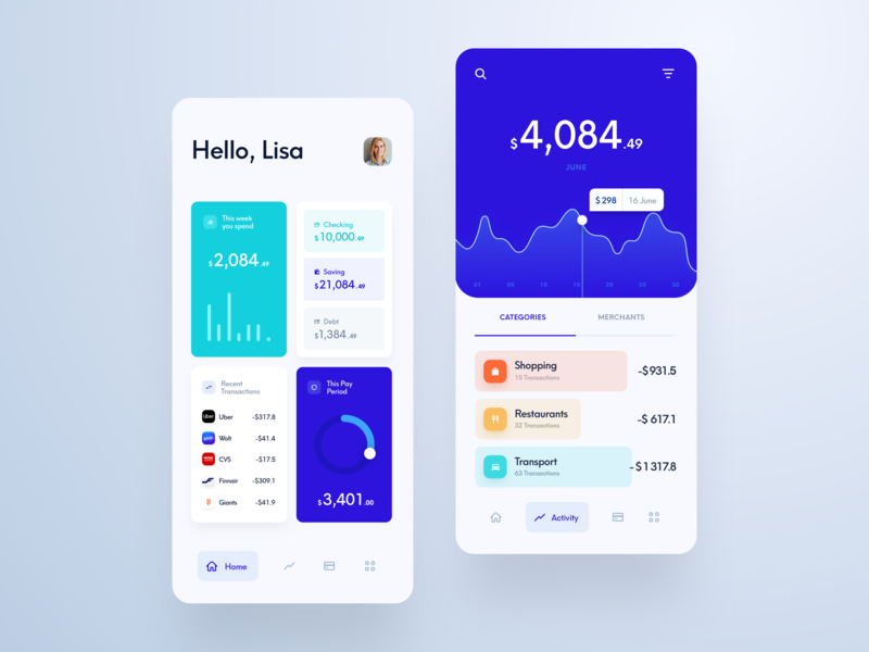 Budget Manager App uidesign money app design ui ux ios app mobile money finance