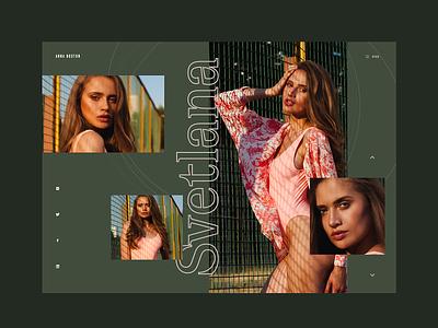 Photographer Portfolio colors homepage website ui landing page web design color type typography portfolio photography layout grid
