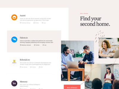 TheHub - Style Exploration 11 ui webdesign homepage landing page uidesign web website visual interface experience style layout lander explore design colors