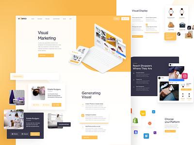 Stamped - Website Design - Visual Marketing visual marketing rates social proof interface clean uidesign web ui landing page website design