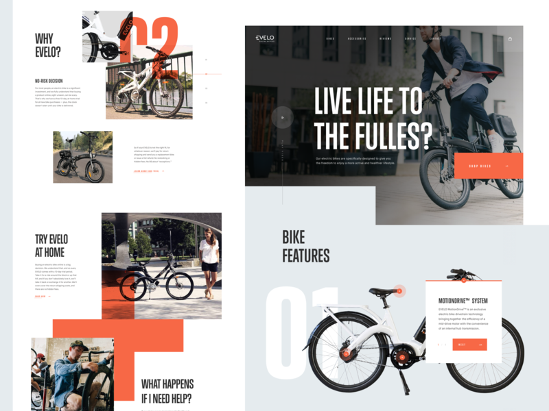 Evelo - Landing Page layout webdesign homepage landing page uidesign ux website web design ui