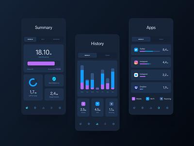 Security Data Manager App mobile design mobile app ios app interface uidesign design ui
