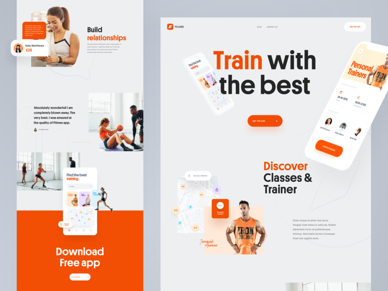 FClass - Landing Page landing page design interface webdesign homepage landing page uidesign website web design ui