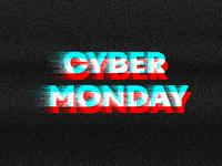 Glitchy Cyber Monday Design